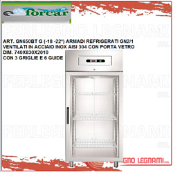 Cabinet Chilled Gn2/1 Vented With Carries Glass 18 -22° Forcar Gn650bt G
