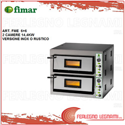 Oven Elett. For Pizz. 144kw 2 Cameras 3ph Or 1ph Rustic Or Steel Fimar Fme 6+6