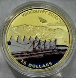 Canada 2010 Olympics 75 Dollars Gold Coin Color Home Of The 2010 Olympics