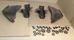 1968 And Other Ford Fairlane 500 Rear Bumper L And R, Inner And Outer Brackets, Bolts