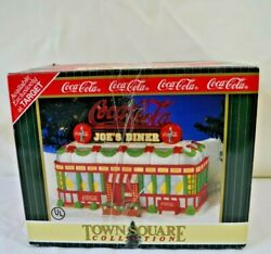 Coca Cola Town Square Joe's Diner Target Exclusive Christmas Village 1998 New