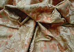 Rare Brocade VINTAGE upholstery WOVEN FABRIC fruit and flowers 2 3 4 yard