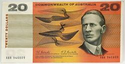 Australia 1967 Twenty Dollars Coombs And Randall Scarce Excellent Note