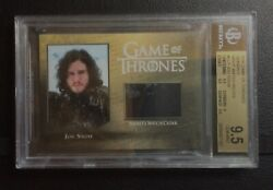 Game of Thrones Season 5: Night's Watch Cloak Relic Card CC1 - Jon Snow GEM MINT
