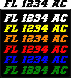 Registration Numbers Jet Ski And Boat Decals Stickers Vinyl