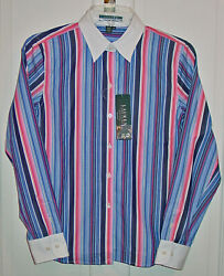 Ladies French Navy Blouse / Shirt Size S-pt New With Tags