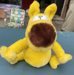 1987 Grimmy Plush Dog 8 Mother Goose And Grimm By 24k Seated Posable Head