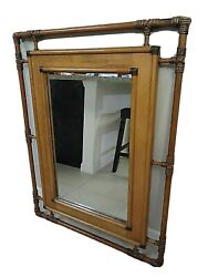 Vintage Lane Company 43 X 32.5 Large Wooden Rope Mirrored Frame