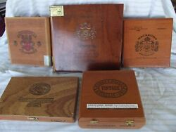 Lot Of 14 Assorted Cigar Boxes