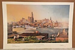 Paul Mcgehee Artist Proof Old Baltimore Harbor W/ Best Wishes Remarque 1988