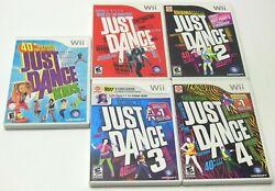 Nintendo Wii Just Dance Lot 1 2 3 4 Kids Complete Tested Fast Wii U Compatible