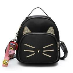 Cute Fashion Cat Mini Backpacks Girls Small Shoulder Bags Casual Satchel W956 $52.99