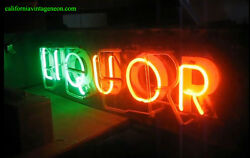 Vintage 1940's Neon Flashing Beer / Liquor Sign 2-sided / One Neon Gorgeous