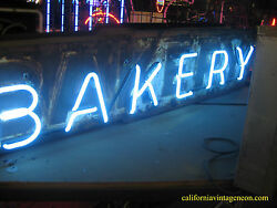 Vintage 1940and039s Bakery Antique Neon Sign
