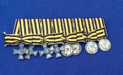 Complete Russian Imperial Miniature Set Of Order Of St George For Bravery Awards