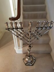 RARE *8Kg* 925 Sterling Silver Jewish Menorah 40