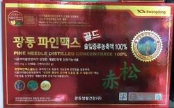 Kwangdong Local Korea Red Pine Needle Concentrate Oil 120 Capsules 450mg Quality
