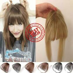 7a Clip In Neat/air Bangs Human Hair Extensions Hair Piece Clip On Front Bang Us