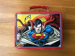 Superman To The Rescue Tin Lunch Box With Handle - Vintage 3d Cover Dc Comics