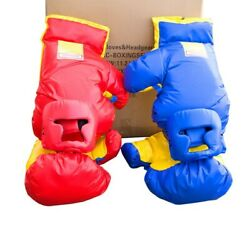 Commercial Inflatable Game Accessory - 2 Pack Boxing Helmet And Gloves Red And Blue