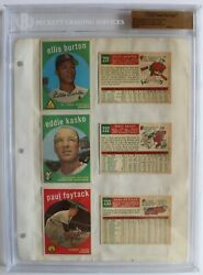1959 Topps Vault Baseball File Copy Binder Page 6 Players 12 Cards Bgs 1 Of 1