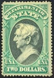 Us Stamps O68 Mint Hr F/vf 1873 2 State Dept Official Sound W/ Pse Certificate