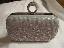 Charming Charlie RSVP Silver Evening Clutch Bag with Chain $19.50