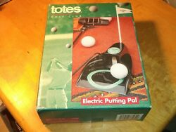 Totes Golf Club Electric Putting Pal Exact Cup Size Automatic Ball Return Nice $19.99