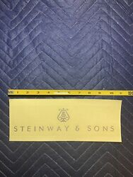 Steinway And Sons Grand Piano Fallboard Nickel Brass Decal Logo