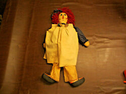Vintage Comtemporary Country Primitive Very Unique Style Raggedy Ann 24 Doll