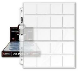 500 Bcw 2x2 Coin Pages 20 Pockets Clear Album Sheets Acid Free Bulk For 3 Rings