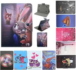 Universal Cartoon Case Pu Leather Cover For Samsung Galaxy 7inch Tab Tablet Pc