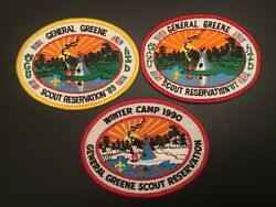 Icollectzone General Greene Council 87, 89, 90 Camp Patch Lot C500