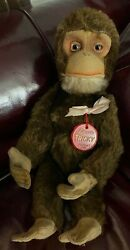 Vintage Schuco Mohair Tricky Yes/no Monkey Made In Us Zone Germany 10 Standing