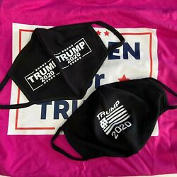 Trump Face Mask 2020 Breathable and Reusable choice of two designs free shipping $15.00
