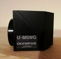 Olympus U-mswg Wide Band Green Fluorescence Filter Cube Olympus Bx Microscope