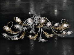 Ceiling From Ceiling Classic Metal And Glass Gold Nickel Free
