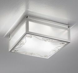 Ceiling From Ceiling Classic With Glass And Crystal Clear Chrome