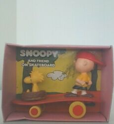 Vintage Peanuts Snoopy And Friends Skateboarding New In Box Htf Packaging