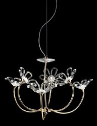 Suspended Lights Classic Chrome Gold With Crystal Clear