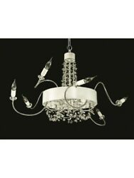 Modern Chandelier White With Arms Flexible Crystal Design Tp 206-la-8-32