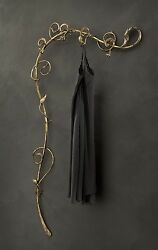 Hanger Wall Classic Rustic Wrought Iron Brown Gold