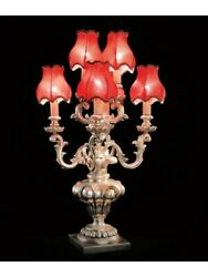 Table Lamp Flambeau Wood With Shades Tp 200-FL6-03