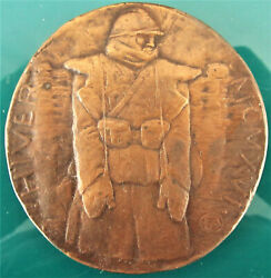 France-1916- Hiver Winter-soldier In The Tranche - Wwi Bronze Cast By Pommier
