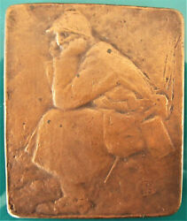 France-c.1916- Le Poilu -soldier In The Tranche - Wwi Bronze Cast By Pommier