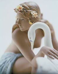 Ships Direct From Lladro - Leda And The Swan Figurine 01012444 2444.