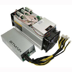 Antminer S9j 14.5 Th Bitcoin Miner W Psu 2400w 220v Upgraded Firmware Up To 20th