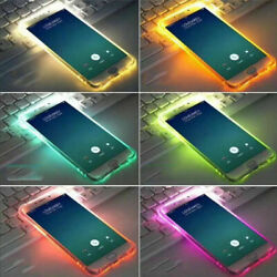 LED Flash Light Up Incoming Call Phone Case Soft TPU Cover For iPhone 7 and 8