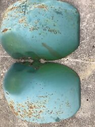 John Deere Round Rear Garden Lawn Tractor Fenders Left And Right 110 112