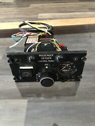 Oxygen Control Panel P/n 900-002-251 For Parts / Not Working Gulfstream